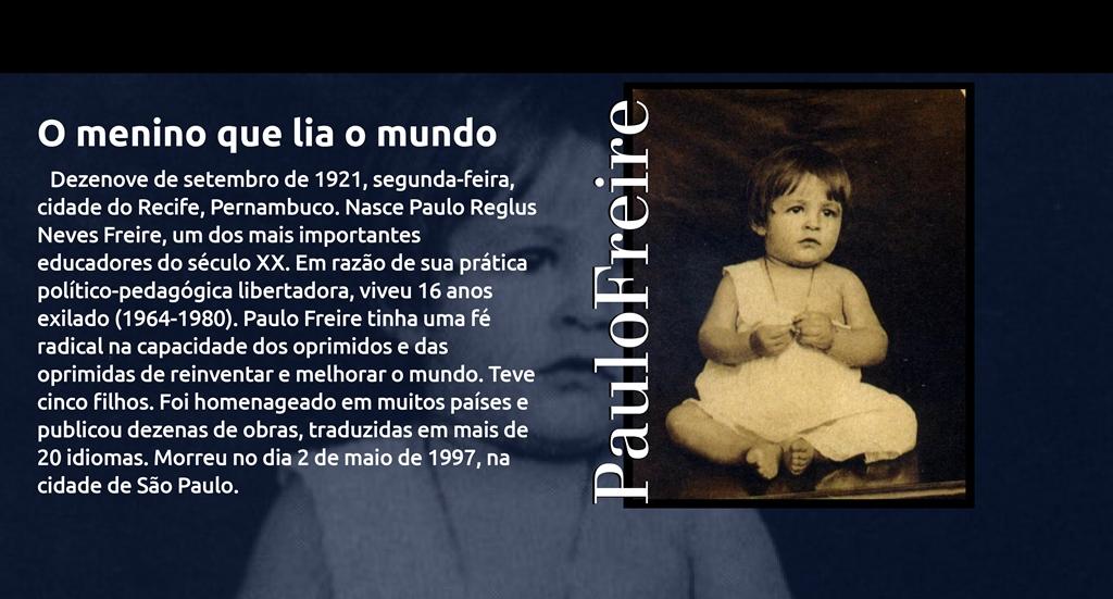 19 de setembro: Aniversário de Paulo Freire