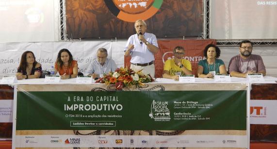 Capital improdutivo é tema das atividades realizadas pelo IPF e parceiros no Fórum Social Mundial 2018