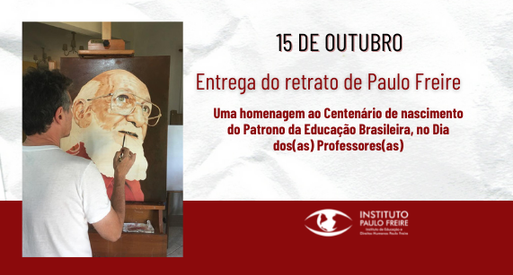 Entrega do retrato de Paulo Freire