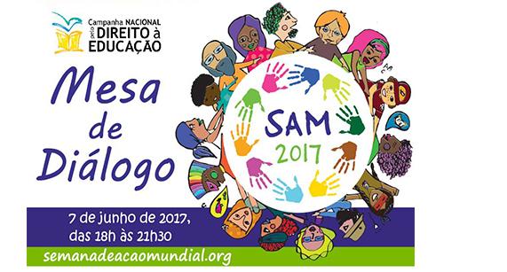 Entidades promovem Mesa de Diálogos na Semana de Ação Mundial (SAM-2017)