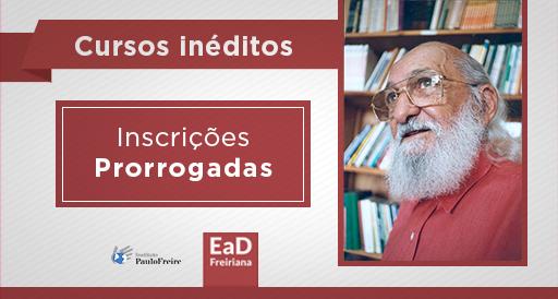 Cursos inéditos da EaD Freiriana têm inscrições prorrogadas